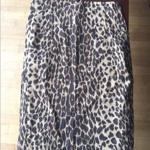 EXPRESS DESIGN STUDIO leopard pencil skirt - sz 6